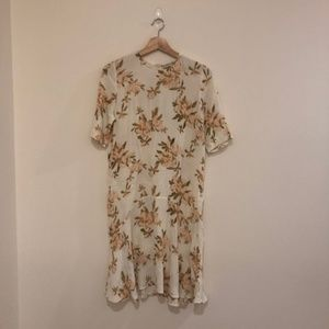 Ganni Floral-print crepe dress